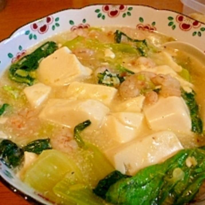 豆腐のえび入りとろみ煮