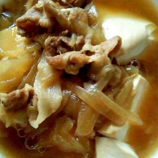 豚肉で作る肉豆腐