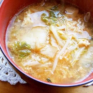まな板なし!韓国風スープ♪(キムチ&もやし他)