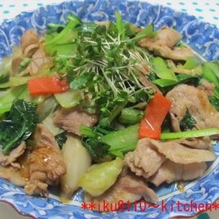 豚肉キャベツ小松菜のオイソ炒め