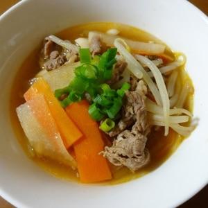 牛とモヤシのこっくりスープ
