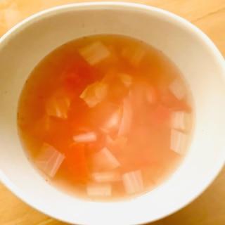 白菜のトマトスープ