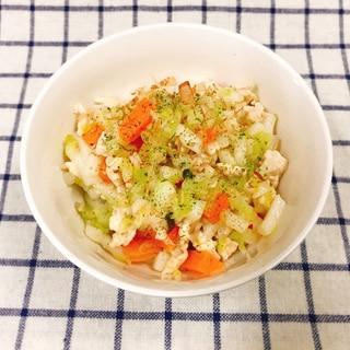 【離乳食完了期】鶏ミンチと野菜の焼うどん