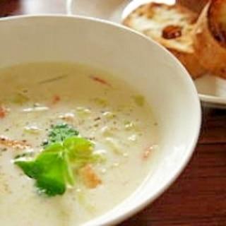 春キャベツと桜海老のスープ