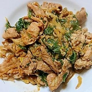 豚肉と大葉と白菜のマヨネーズソース味噌炒め