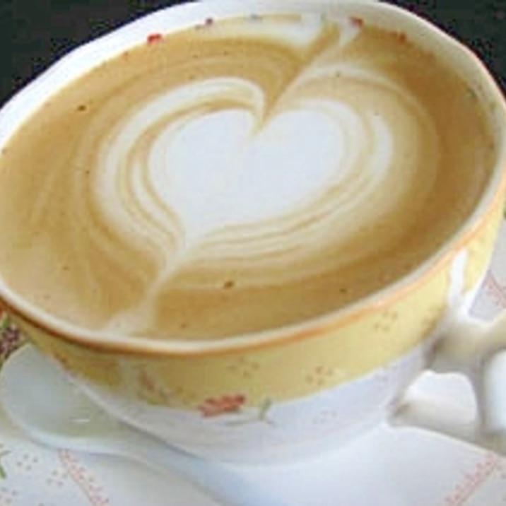 簡単ハートのカフェ・ラテアート