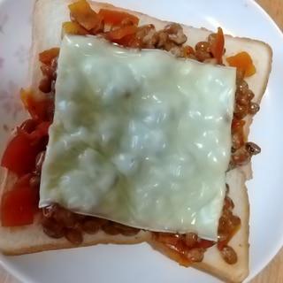 納豆と福神漬けとチーズトースト★