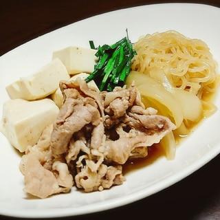 優しい味 豚小間肉で肉豆腐