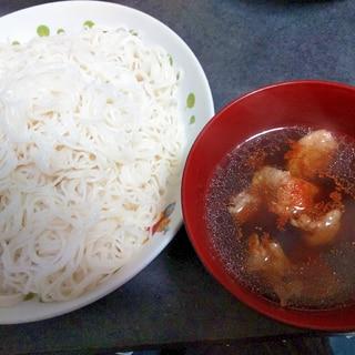 甘辛豚つゆ素麺