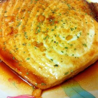 カジキマグロステーキ♪ニンニクバター醤油味