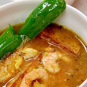 ご飯炊いている間に作れます『海老のスープカレー』