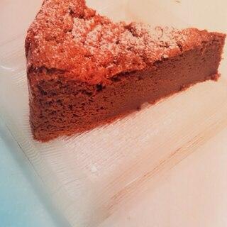 材料2個で作る、チョコレートケーキ