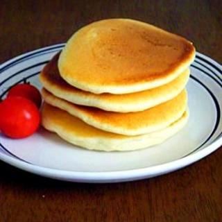 簡単おやつ、ミックス・卵不使用のパンケーキ