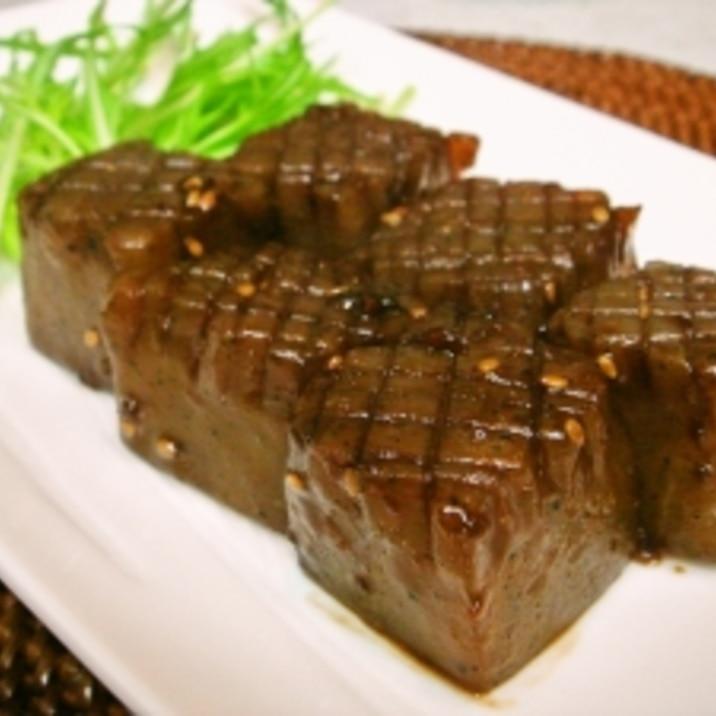 ダイエットメニュー♪簡単こんにゃくステーキ