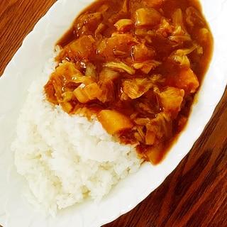 圧力鍋使用☆大根とキャベツ入りの野菜たっぷりカレー