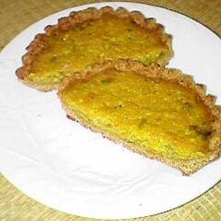 フライパンで焼く バター無しのパンプキンパイ♪