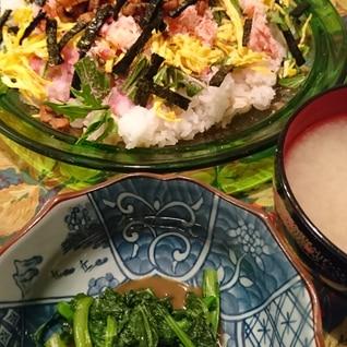 刻みアナゴのチラシ寿司