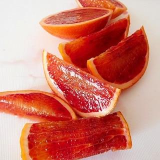 筋っぽくならないオレンジのカット方法
