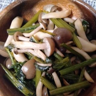 お弁当、作りおきに!ほうれん草としめじのポン酢炒め