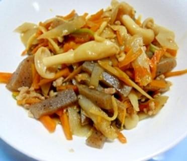 野菜ときのことひき肉の和風炒め