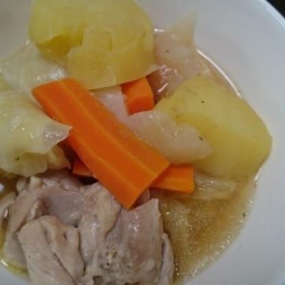 ソーセージなかったので鶏肉で作りました。 美味しくできました。ありがとうございます(^.^)(-.-)(__)