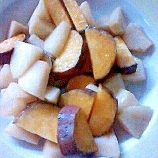 りんごとさつまいものトースター焼き