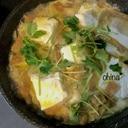 余った稲荷の皮で❁卵とじ豆腐❁