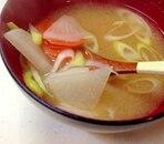 かぶとにんじんの味噌汁
