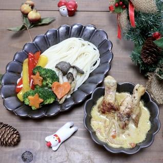 豆乳スープカレーのひやむぎつけ麺