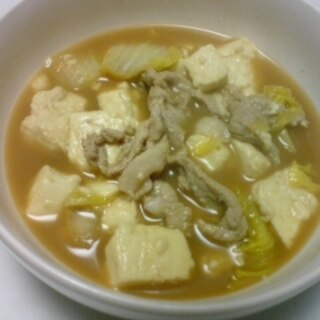 白菜入り肉豆腐