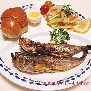焼き魚と野菜マリネのヘルシーワンプレート♪