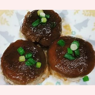 余った餃子のたねで❤椎茸の肉詰め