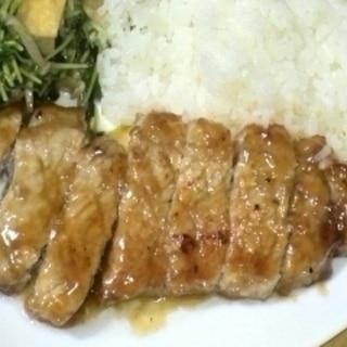 豚ロース肉のにんにく醤油ソテー