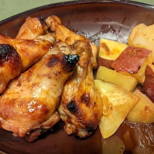 鶏手羽元のバーベキューオーブン焼き