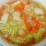 白菜と人参の和風スープ
