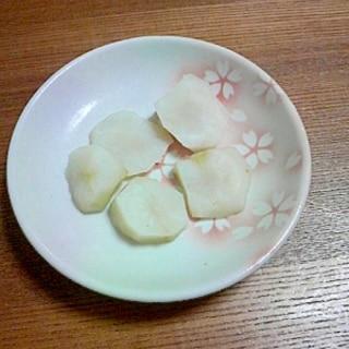 菊芋の塩茹で(^^)