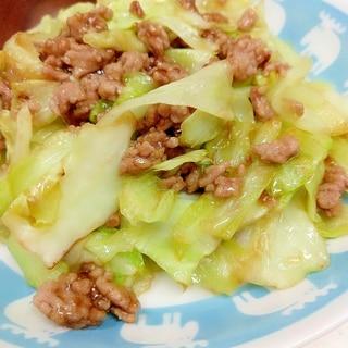 簡単♪(^^)キャベツと豚ひき肉の甘辛生姜炒め♪