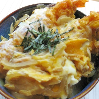 美味しく簡単な♪エビフライ丼☆