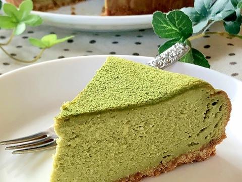 和スイーツ♡抹茶のベイクドチーズケーキ
