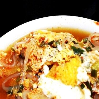 冷え込む夜、こんなぽかぽか温まるスープはとっても美味しいです~。白滝でカロリーカットしましたが汗、この冬何回もリピしたいです!