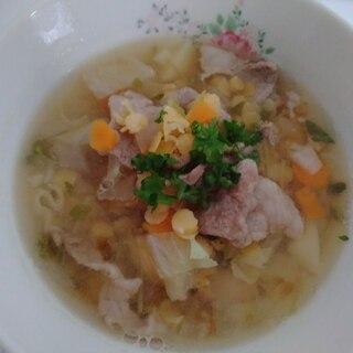 食べるスープ☆レンズ豆のスープ