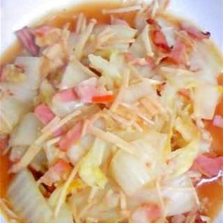 ベーコンと白菜のかんたん煮