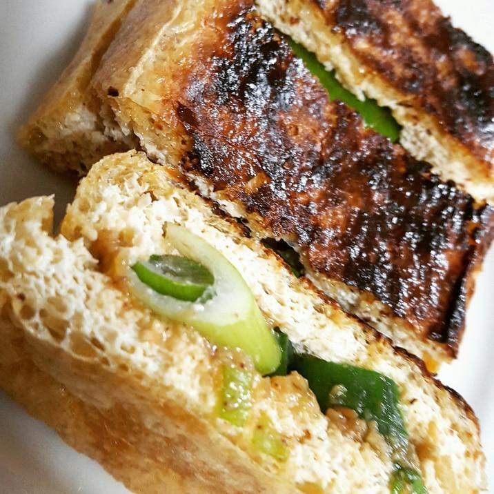 栃尾揚げのトースター焼き
