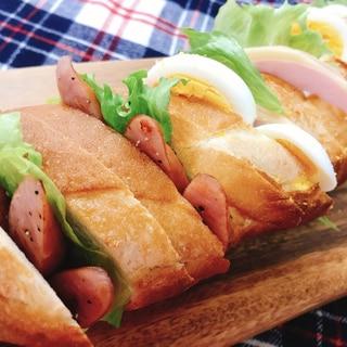ランチやピクニックに♡フランスパンでサンドイッチ