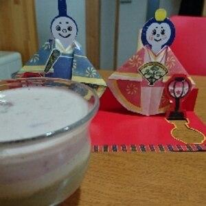 ひな祭り♪3色ミルクプリン