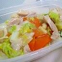 白菜と鶏肉のオイスターソース炒め