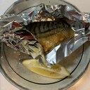 市販の鯖の塩焼きにひと手間プラス  大根おろしも