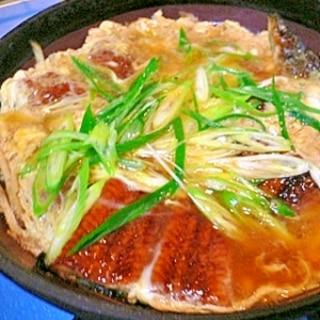 鰻の卵とじ(柳川風)