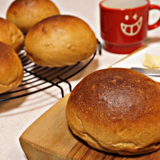 ふすまパンミックスで作る 手ごね丸パン