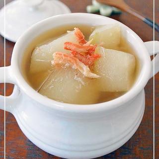 電子レンジ&蟹缶詰で簡単!冬瓜とろとろスープ